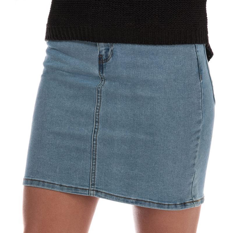 Sukně Vero Moda Womens Hot Seven Denim Skirt Light Blue