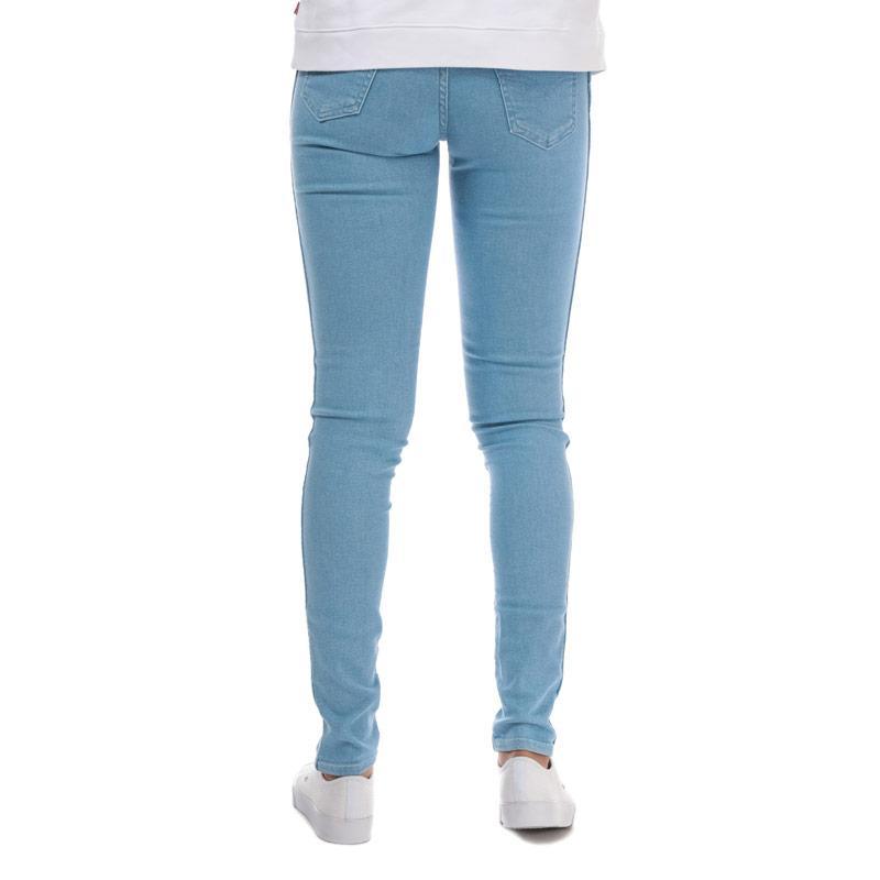 Levis Womens Line 8 Mid Skinny Blue Ice Jeans Light Blue Velikost - W28/L32