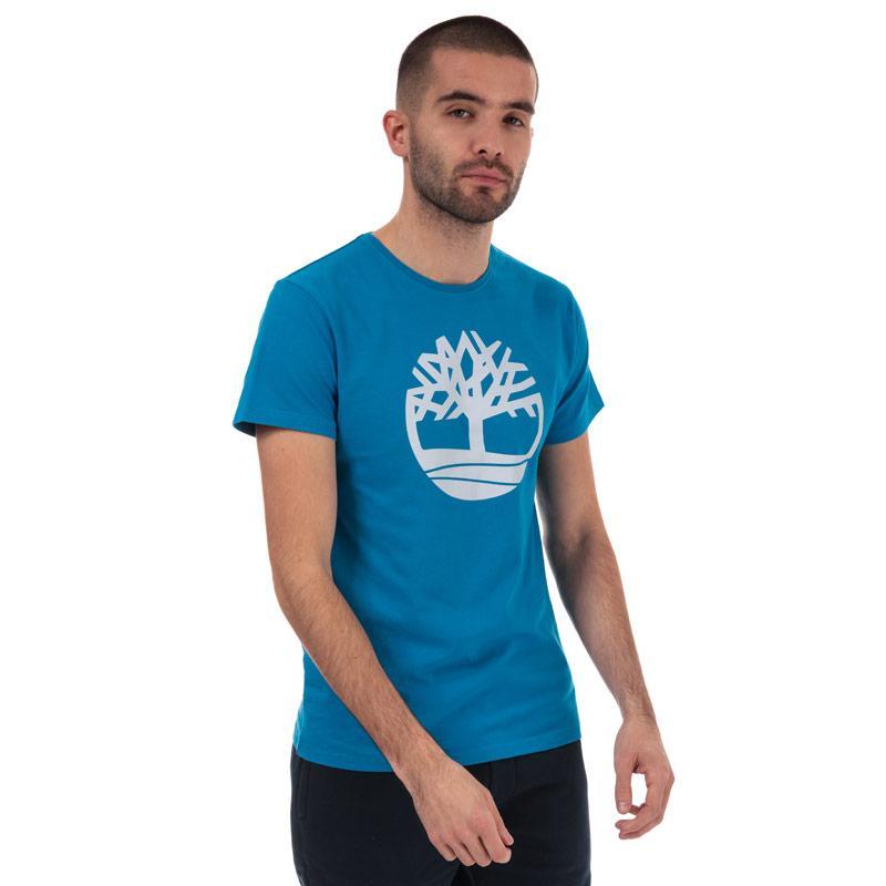 Tričko Timberland Mens Brand Tree T-Shirt Blue