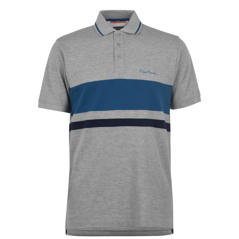 Pierre Cardin Chest Polo Shirt Mens Grey Marl