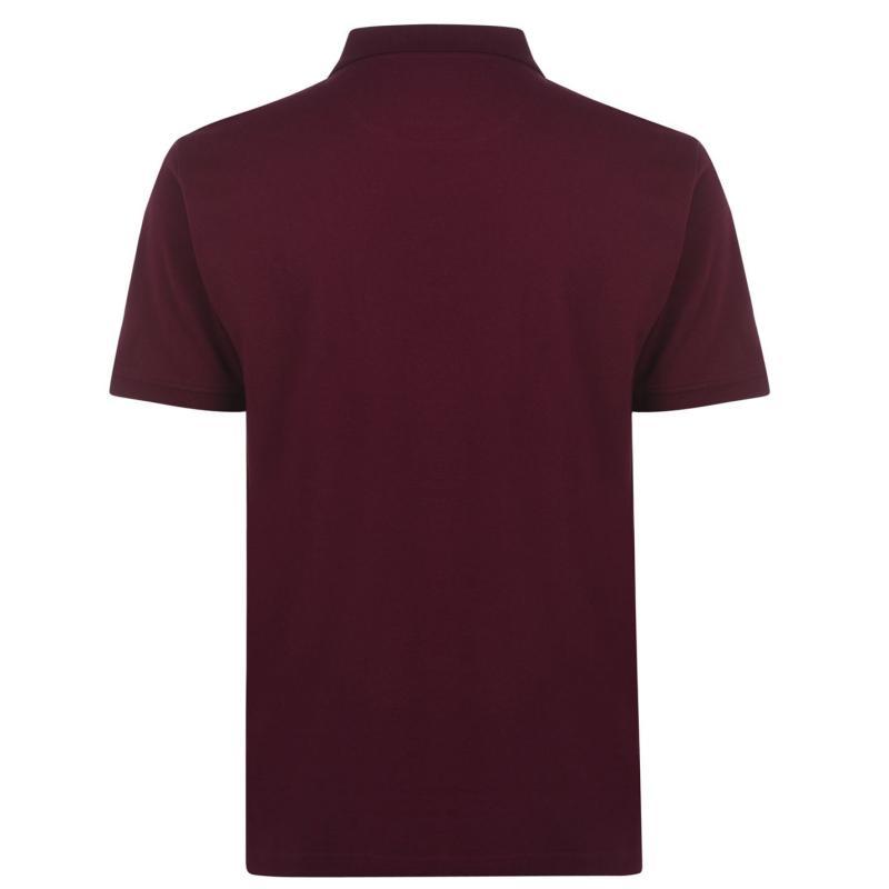 Pierre Cardin Chevron Polo Shirt Mens Burgundy