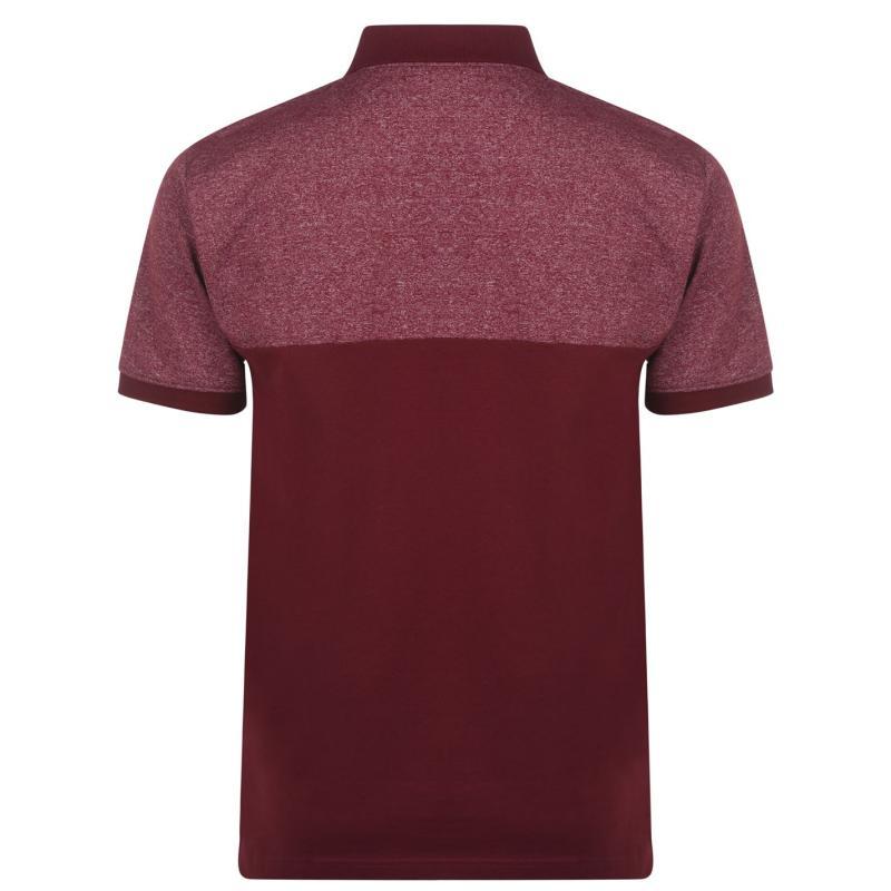 Pierre Cardin Marl Polo Shirt Mens Burgundy