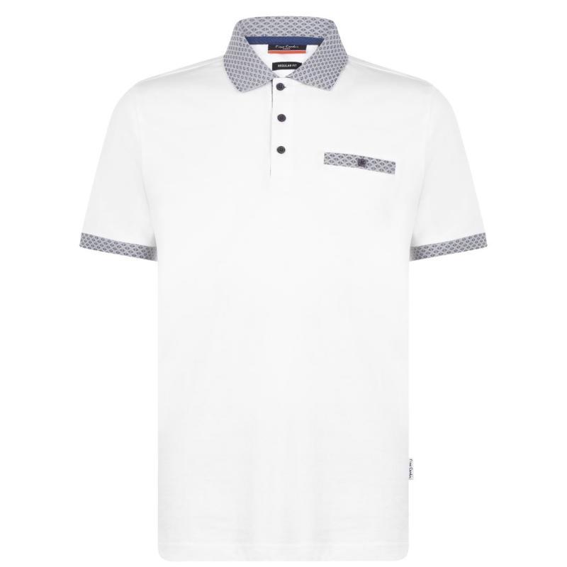 Pierre Cardin Pocket Detail Polo Shirt Mens White