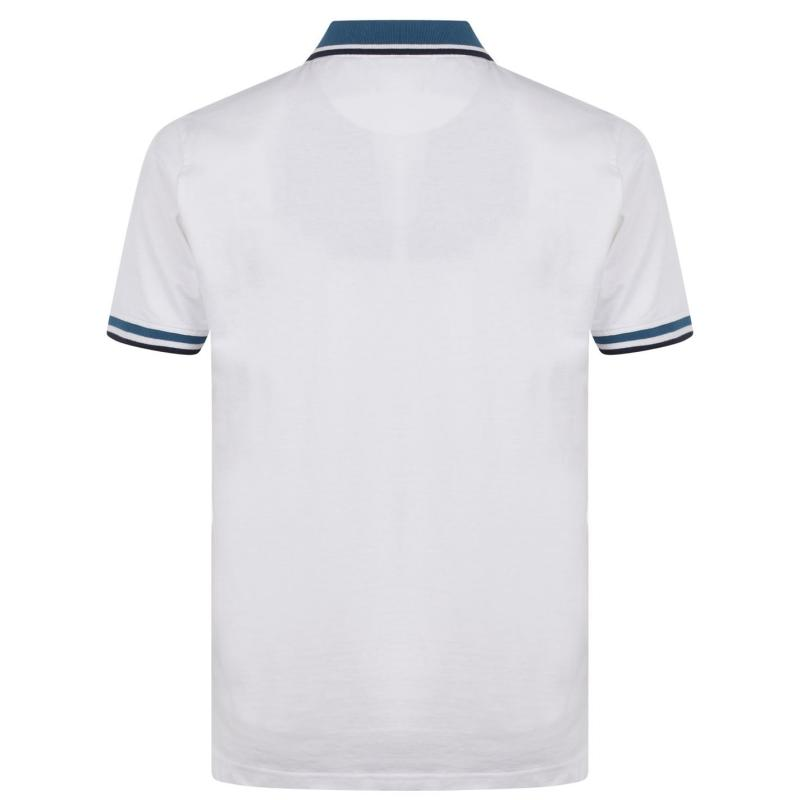 Pierre Cardin Tipped Detail Polo Shirt Mens White