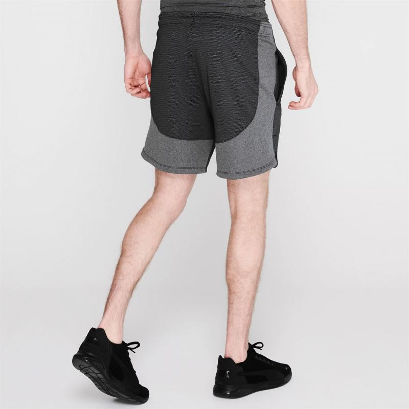 Under Armour Mens Knit Shorts Black/Grey