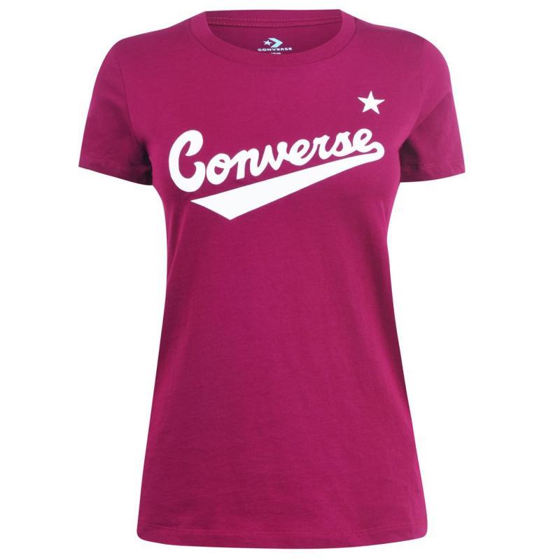 Tričko Converse Nova Logo T Shirt Ladies Rose Maroon
