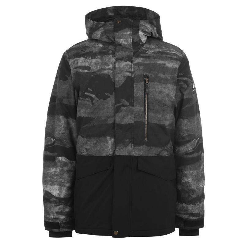 Quiksilver Mission Jacket Mens Black/Camo