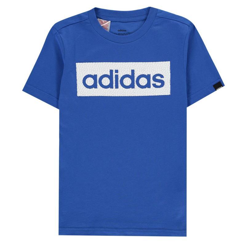 Tričko adidas Boost T-Shirt Junior Boys Blue/White