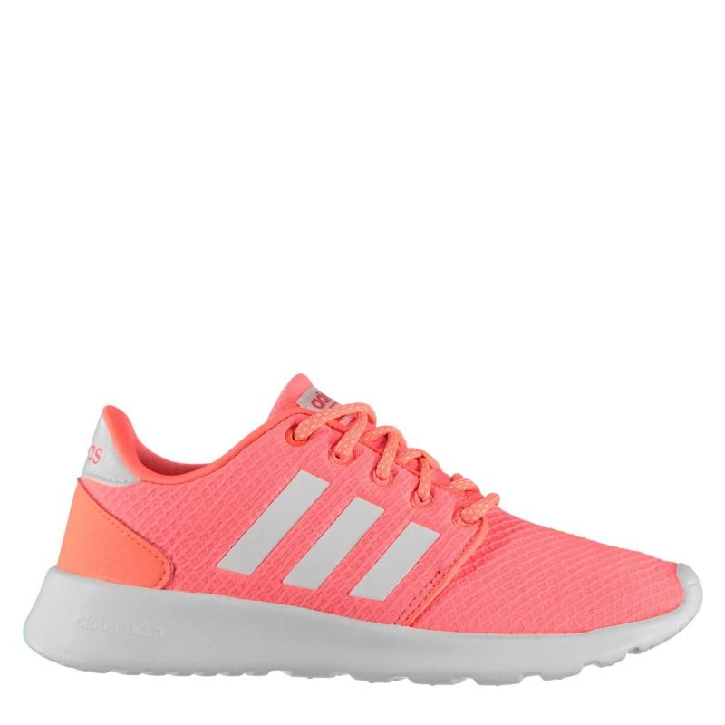 Adidas Qt Racer Womens Trainers Coral/White