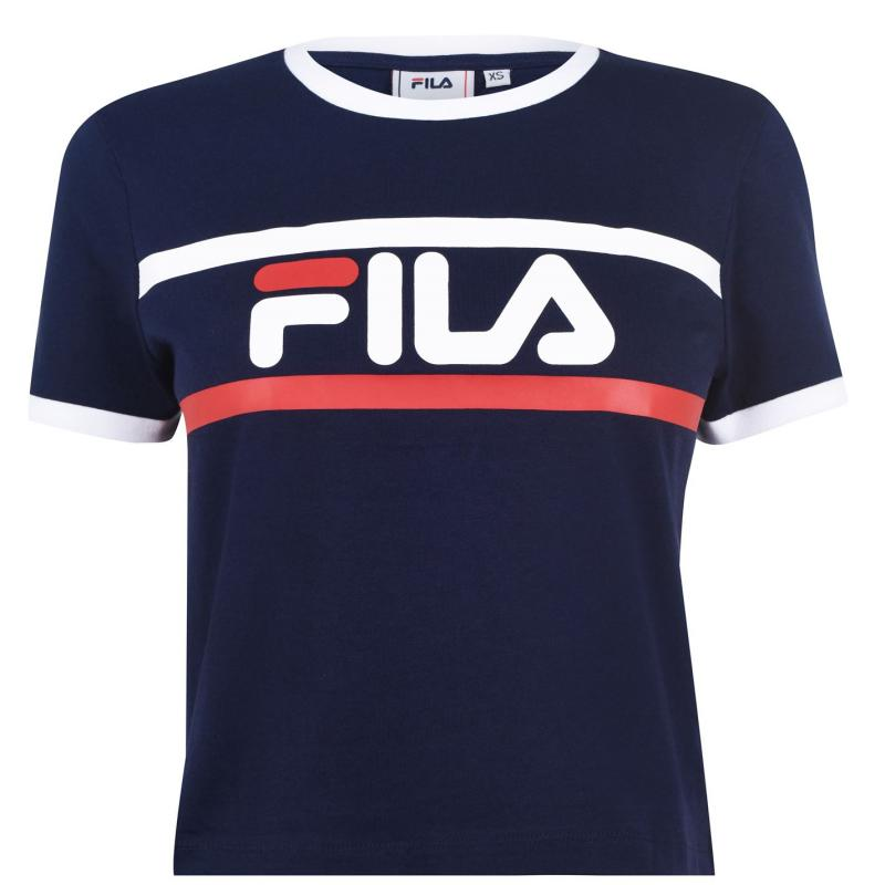 Tričko Fila Ash Crop T Shirt Ladies Black