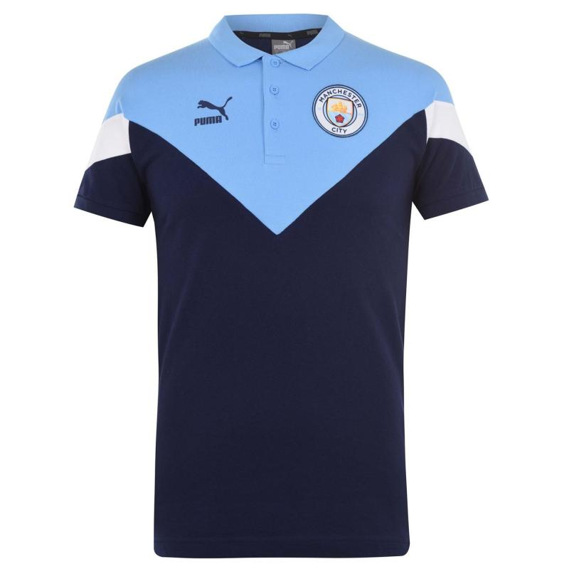 Puma Manchester City FC Polo Shirt Mens Navy/Blue