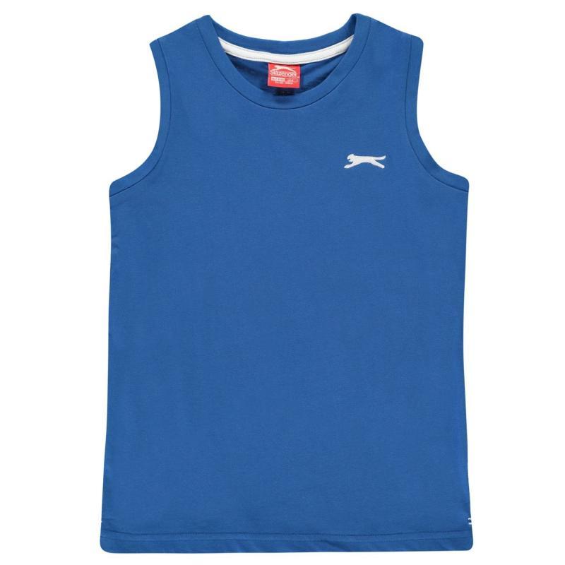Tílko Slazenger Sleeveless T-Shirt Junior Boys Royal