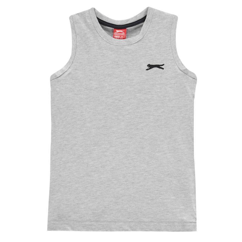 Tílko Slazenger Sleeveless T-Shirt Junior Boys Grey Marl