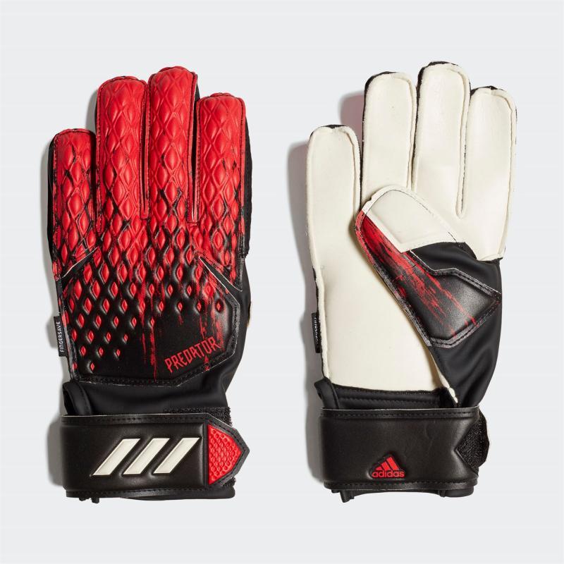 Adidas Predator Match Junior Goalkeeper Gloves Fingersave BLACK/ACTRED/WHITE