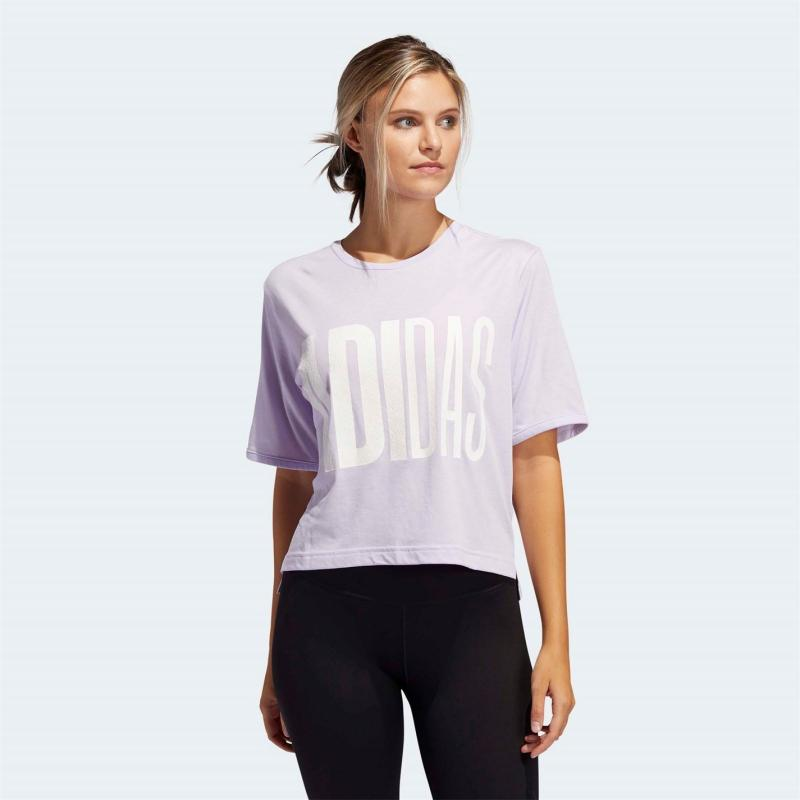 Tričko adidas Womens Sports Universe Graphic T-Shirt Purple Tint