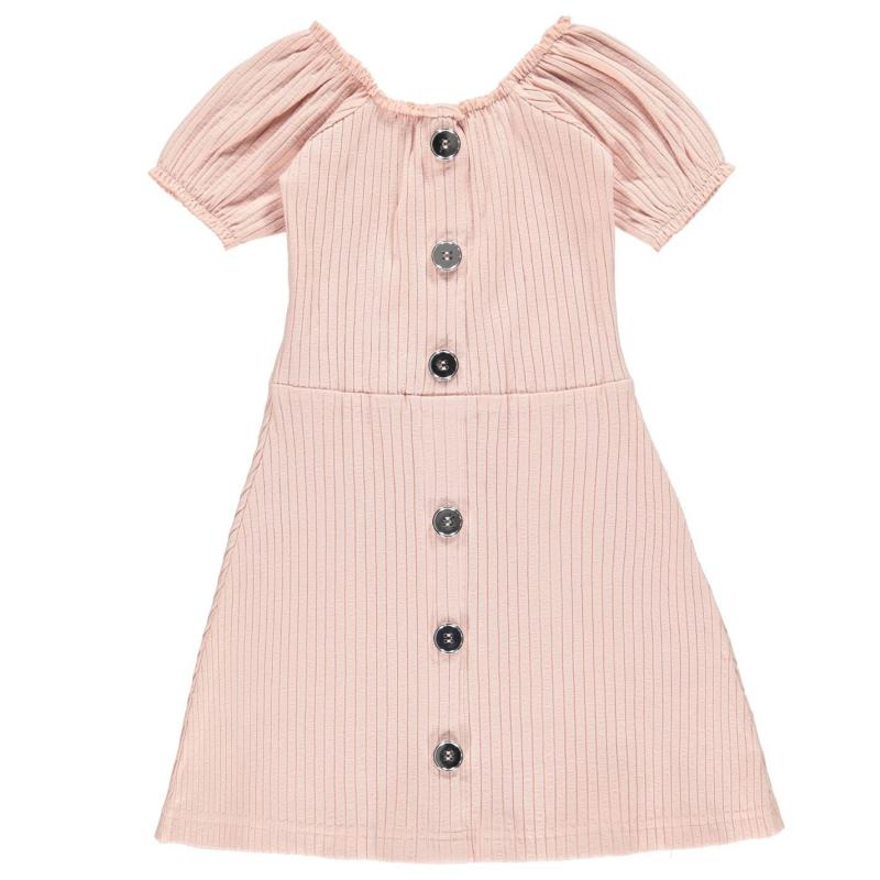 Šaty Firetrap Rib Dress Infant Girls Lotus Pink