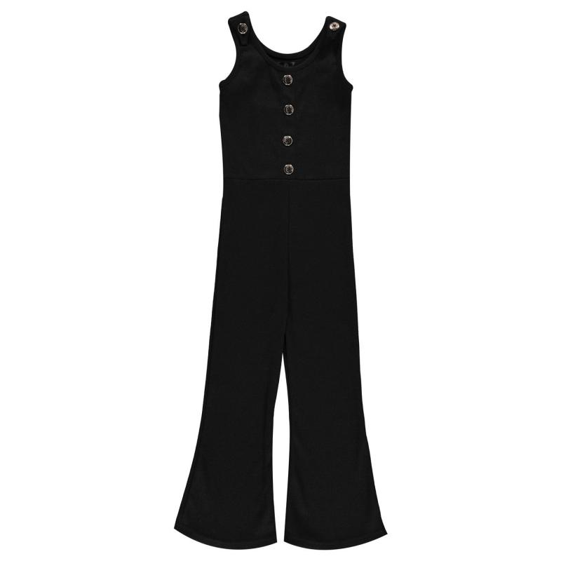 Šaty Firetrap Ribbed Jumpsuit Girls Jet Stripe
