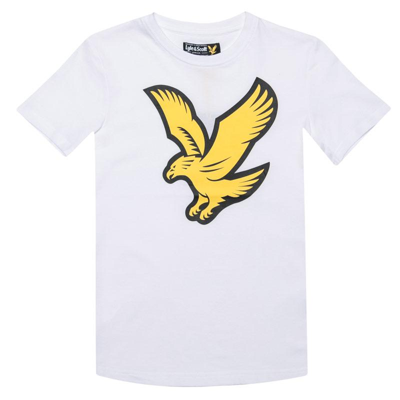 Tričko Lyle And Scott Junior Boys Eagle Logo T-Shirt White