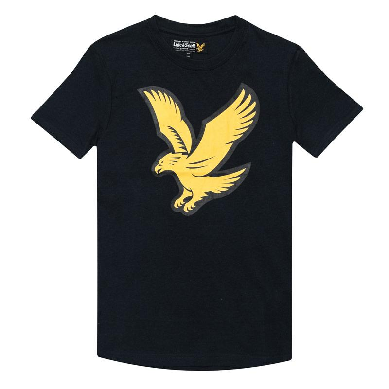 Tričko Lyle And Scott Junior Boys Eagle Logo T-Shirt Navy