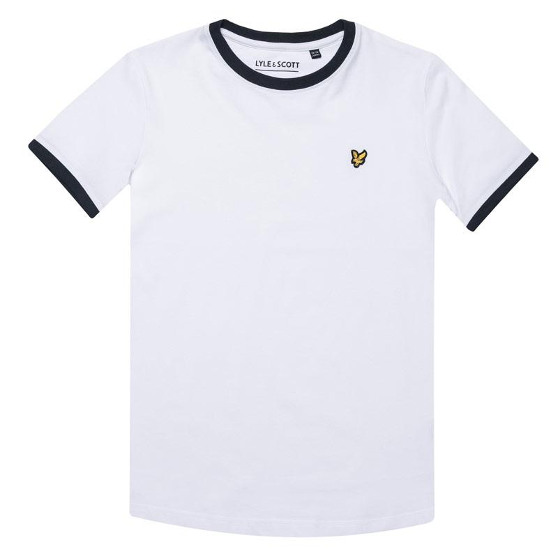 Tričko Lyle And Scott Junior Boys Ringer T-Shirt White