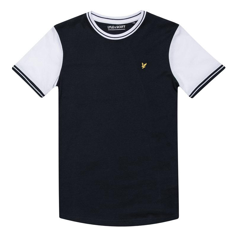 Tričko Lyle And Scott Junior Boys Tipped T-Shirt Navy