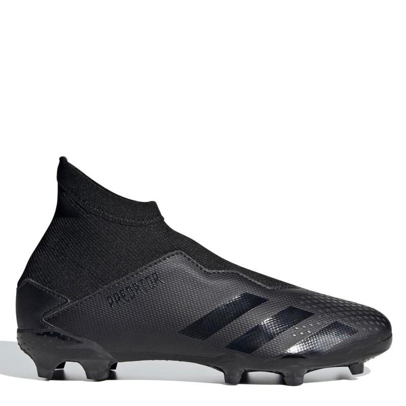 Adidas Predator 20.3 Laceless Childrens FG Football Boots Black/Black