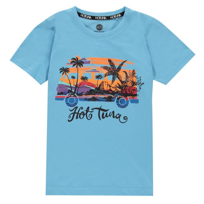 Tričko Hot Tuna T-Shirt Junior Boys Blue Camper