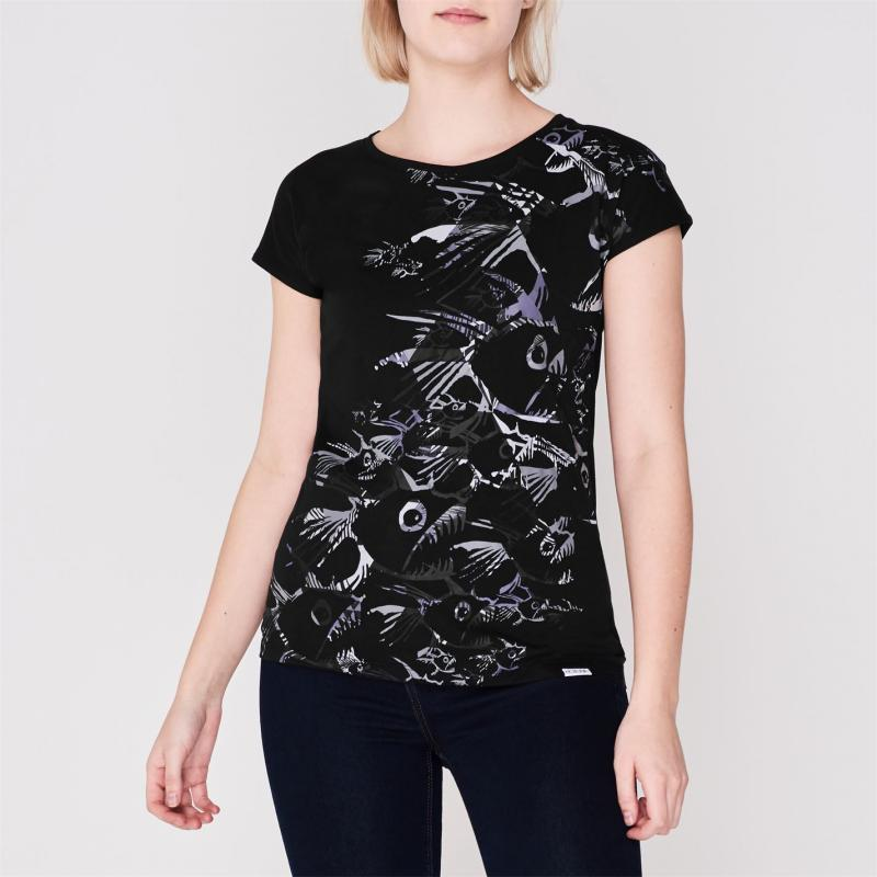 Hot Tuna T-Shirt Womens Black Fish