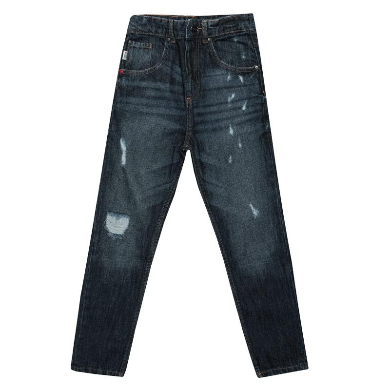 Kalhoty Franklin And Marshall Infant Boys Carrot Fit Jeans Denim