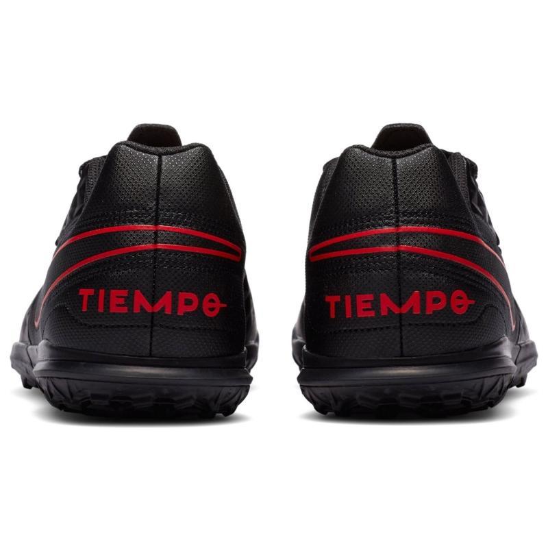 Nike Tiempo Legend Club Childrens Astro Turf Trainers Black/ChileRed