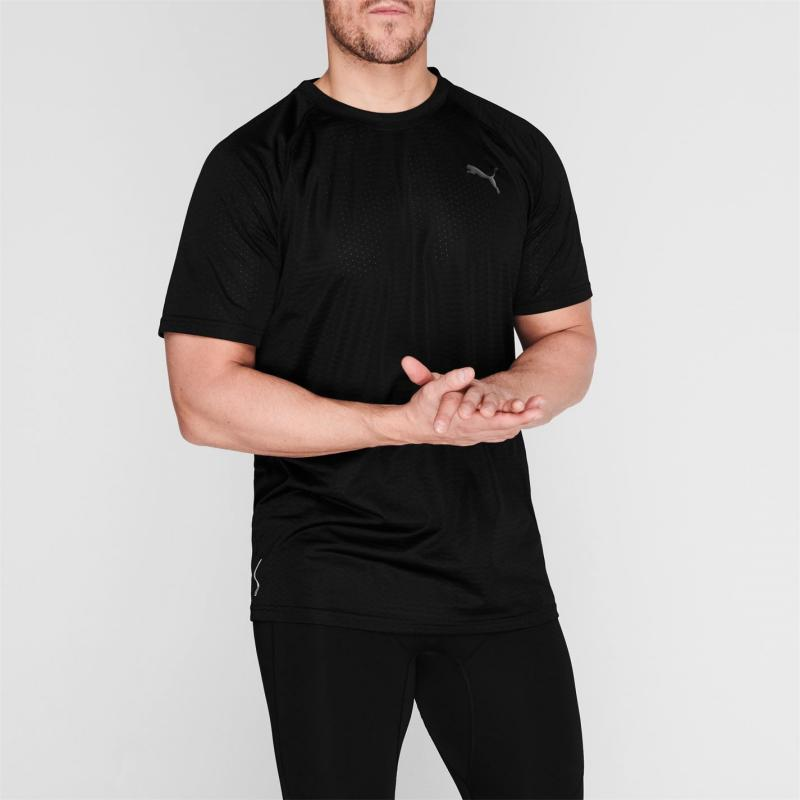 Puma Short Sleeve Tech T Shirt Mens Black