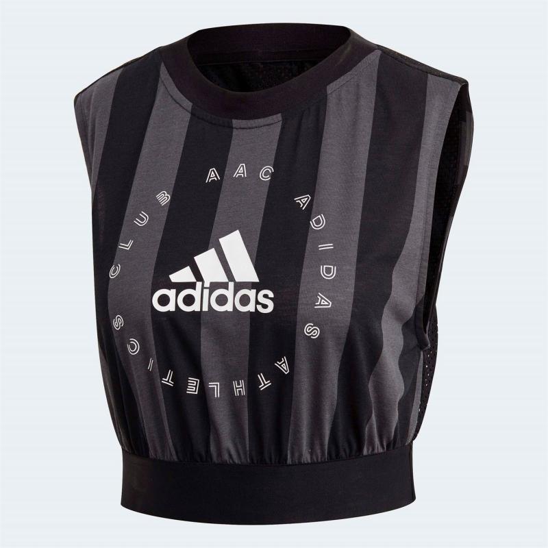 Adidas Athletics Club Tank Top Ladies Black/Grey Six