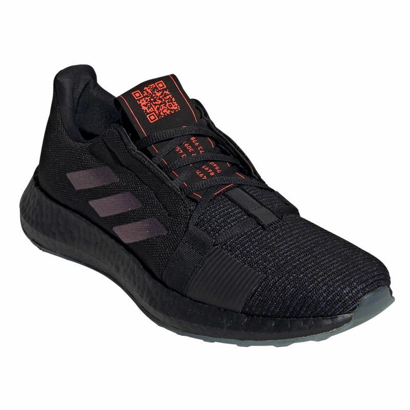 Adidas Senseboost Go Mens Running Shoes C.Blk/Blvime