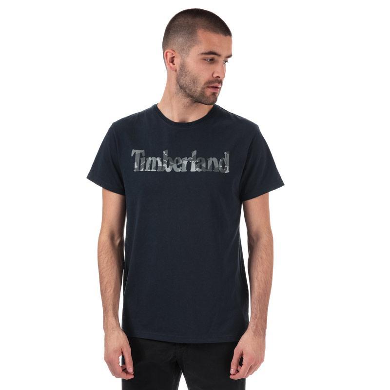 Tričko Timberland Mens Pattern Linear Logo T-Shirt Navy