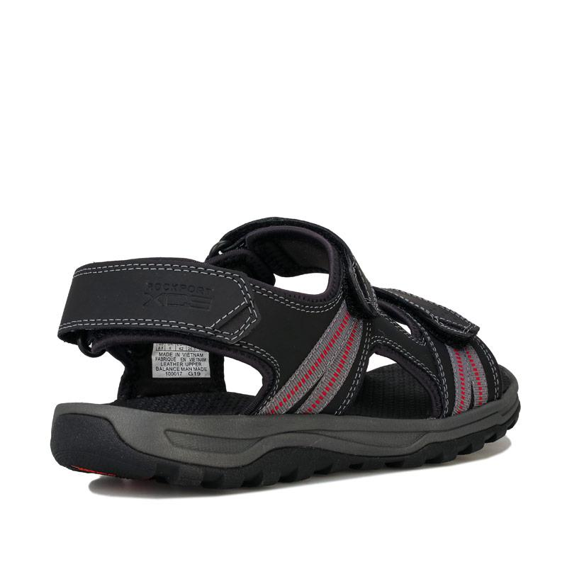 Rockport Mens Trail Technique 3 Strap Sandal Black