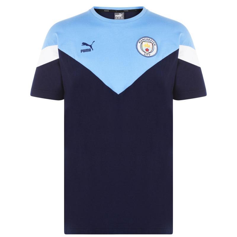Puma Manchester City Football Club T-Shirt Mens Navy/Blue
