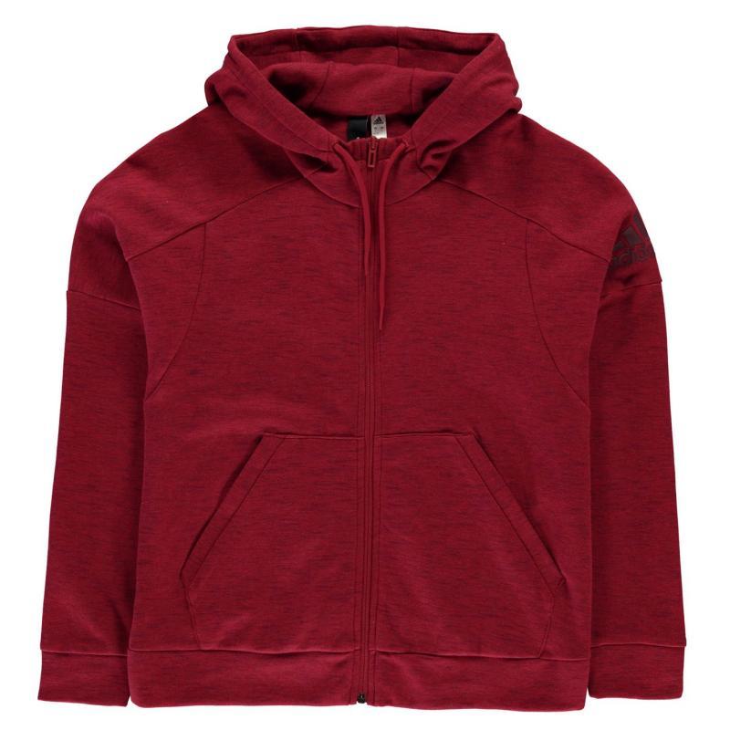 Mikina adidas ID Melang Zip Hoody Ladies Red