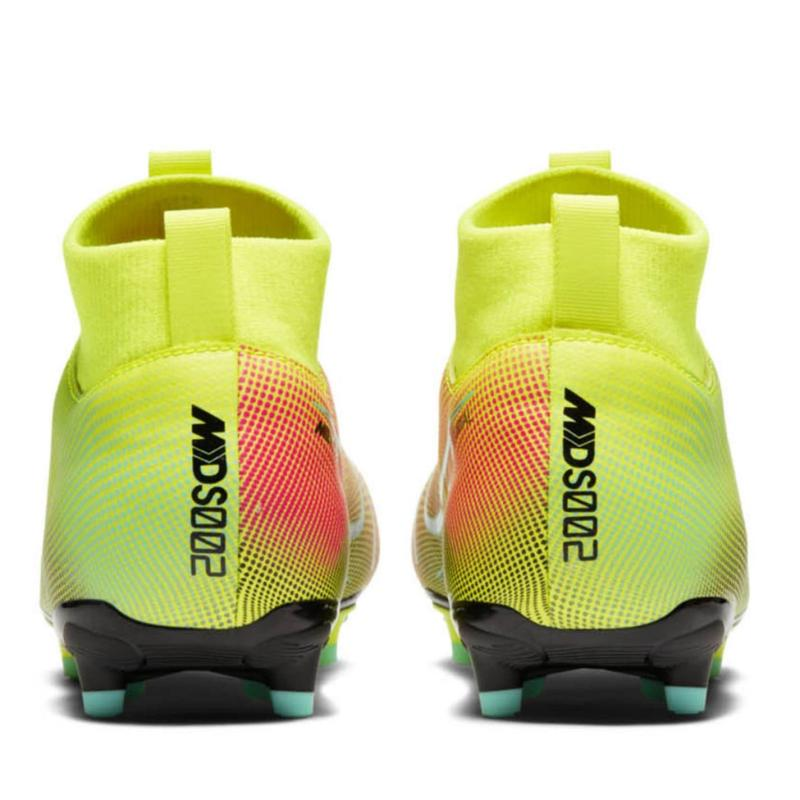 Nike Mercurial Superfly Academy DF Junior FG Football Boots Lemon/Black