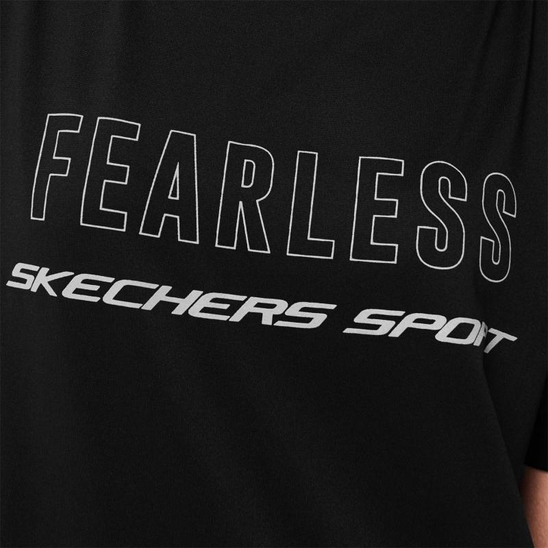 Tričko Skechers Aurora Short Sleeve T Shirt Ladies Black
