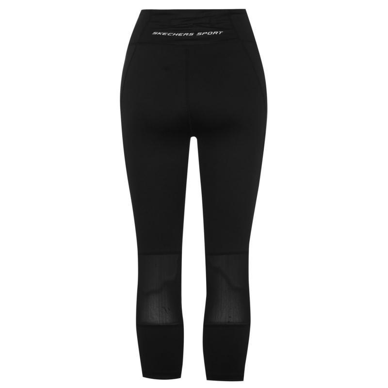 Skechers Mesh Crop Tights Ladies Black