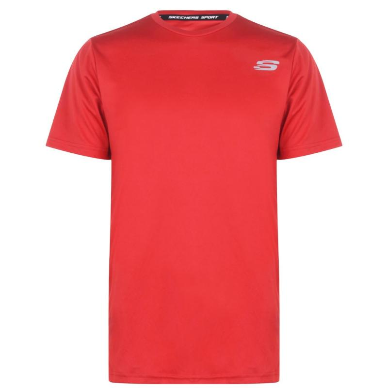 Skechers Oslon Short Sleeve T Shirt Red