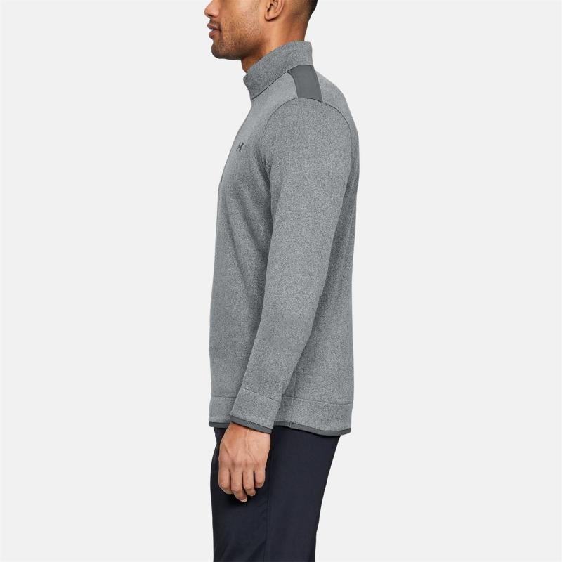 Under Armour Zip Sweater Mens Pitch Gray