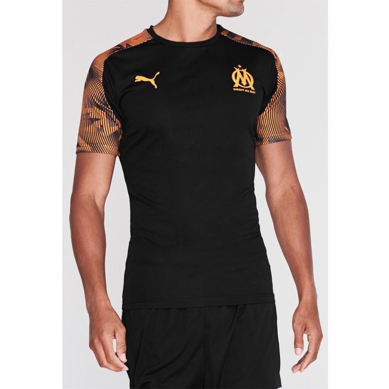 Tričko Puma Olympique De Marrseile Short Sleeved T Shirt Mens Black