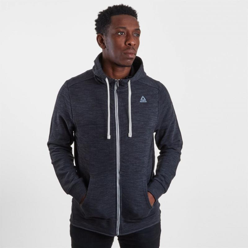 Mikina Reebok French Hoodie Mens Black