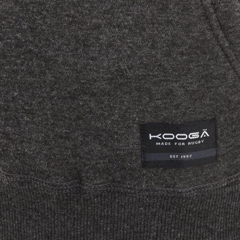 KooGa Logo Hoodie Mens Charcoal Marl