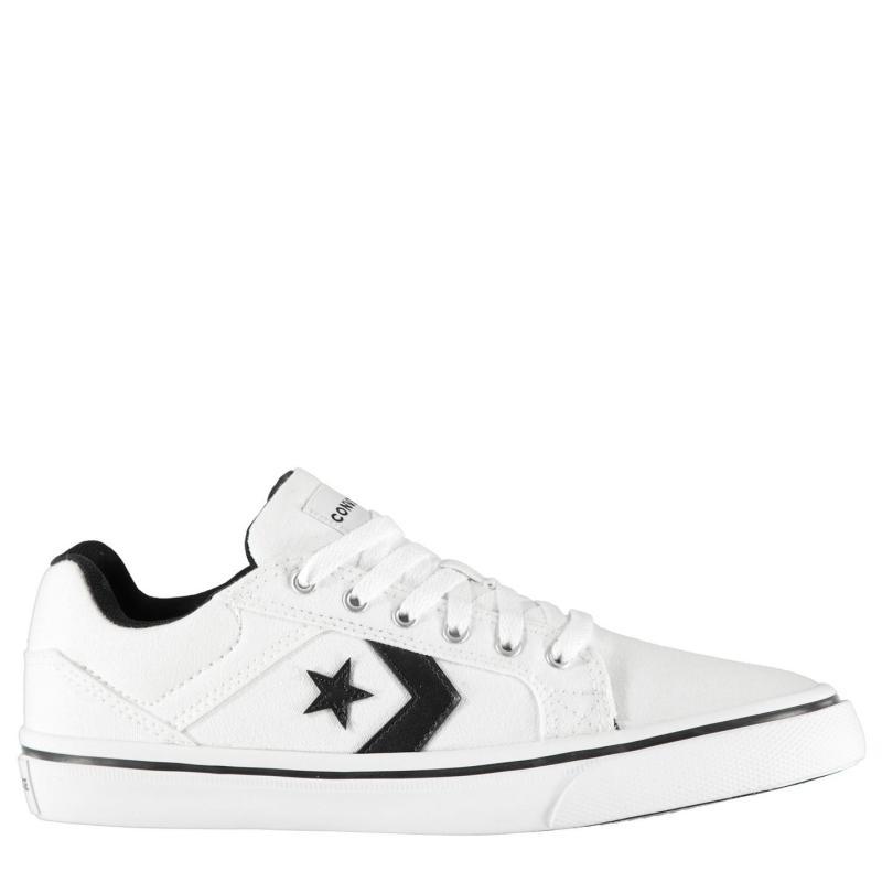 Converse Distrito 2 Canvas Low Trainers White/Black