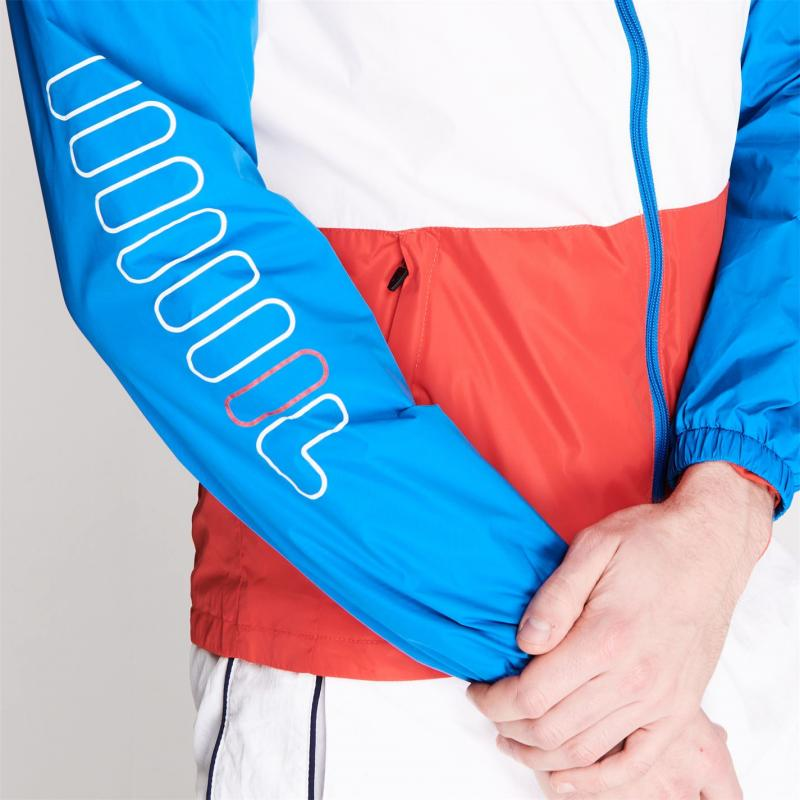 Fila Hugo Tracksuit Jacket Mens Blue/Wht/Red