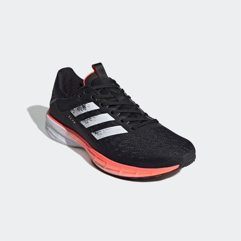 Adidas SL20 Summer Ready Mens Running Shoes Black/White/Red