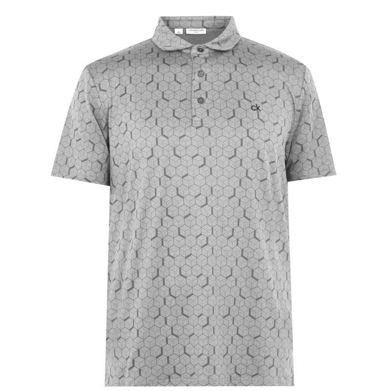 Calvin Klein Golf Rock Face Polo Shirt Silver Marl