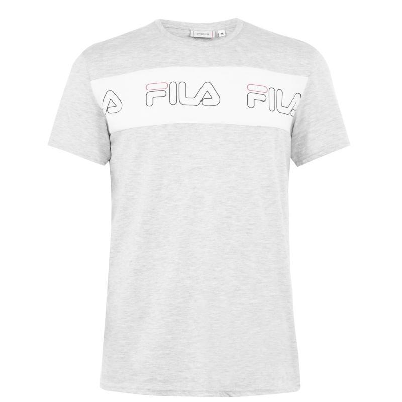 Tričko Fila Aki Logo T-Shirt Mens White